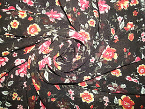 Print Crinkle Crepe Fabric pictures & photos