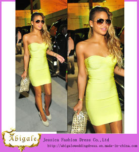 Custom Made Elegant Simple Sweetheart Short Cheap Celebrity Bandage Dresses (SR67) pictures & photos
