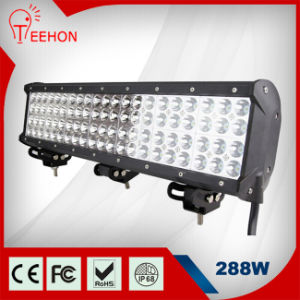 23inch Quad Rows LED Work Light Bar 288W pictures & photos