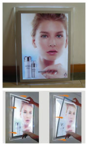 Black Frame LED Crystal Magnetic Light Box pictures & photos