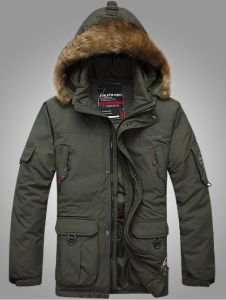 Mens Parka Fashion Down Jacket with Fur (SY-M17) pictures & photos
