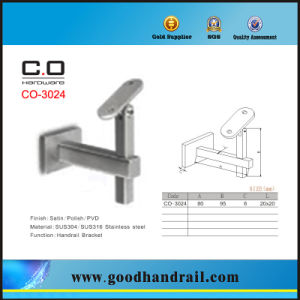 Adjustable Stainless Steel Handrail Bracket Co-3024 pictures & photos
