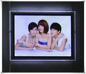 Wall Mounted Magnetic LED Acrylic Photo Picture Frame pictures & photos