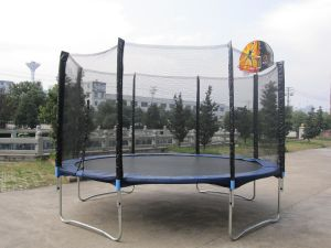 12ft Fitness Trampoline With Basketry (SX-FT(E))