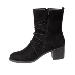 Black Women Boots Woman Winter Ladies Ankle Boots pictures & photos