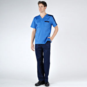 Unisex Hospital Surgical Scrubs Nurse Uniform Beauty Salon Uniform pictures & photos