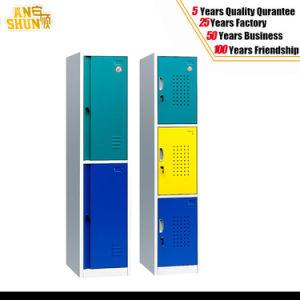 Steel Cabinet Locker/Steel Wardrobe Lockers/3 Compartment Steel Locker pictures & photos
