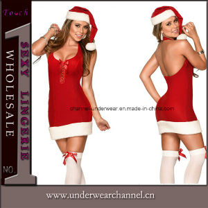 Wholesale Festive Lady Santa Dress Christmas Carnival Costume (7250) pictures & photos
