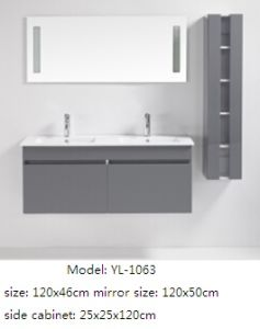 European Style Bathroom Furniture with Ceramic Basin Decorative Mirror