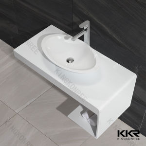 Kingkonree Solid Surface Marble Bathroom Vanity Counter Top pictures & photos