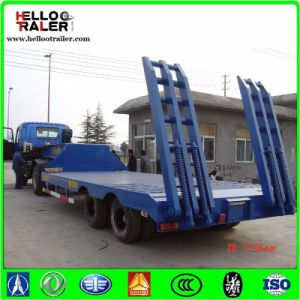 2 Axle 30 Ton Low Bed Truck Trailer Mechanical Ladder pictures & photos
