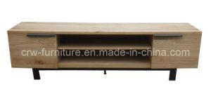 Oak TV Cabinet Steel Legs (OF-101) pictures & photos
