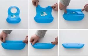 Food Grade Silicone Baby Bib pictures & photos