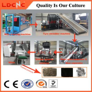 Waste/Used Tyre Shredder Recycling Machine Equipment with Rubber Powder Production Line pictures & photos
