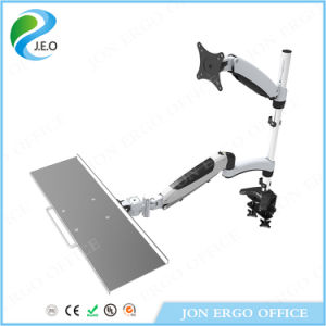 Gas Lifting Stand up Workstation/Monitor Mount with Keyboard (JN-WS01) pictures & photos
