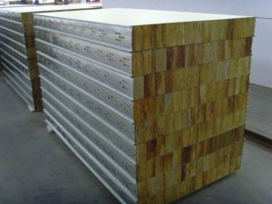 High Grade Rockwool Insulated Composite Panel for House Building pictures & photos