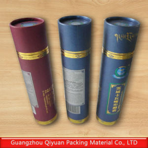China hard kraft paper cylindrical tube box china for Kraft paper craft tubes