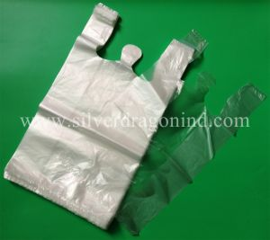 Low Price Landfill Biodegradable T-Shirt Bag, Eco-Friendly pictures & photos
