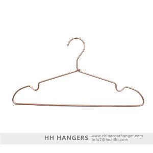 Ultra Light Aluminium Metal Clothes /Coat Copper Hangers for Wholesale pictures & photos