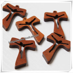 Christmas Hot Stamping Silver Ink Jesus Wood Cross (IO-cw036) pictures & photos