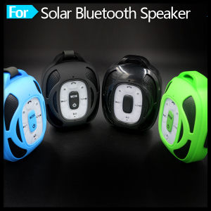 Portable Solar Wireless Music Player Bluetooth Speaker with Built-in Micphone pictures & photos