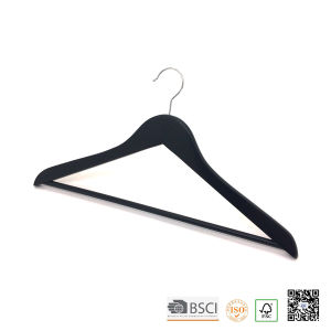 Black Wooden Hospitality Clothes Hanger for Hotel Coat Storage pictures & photos