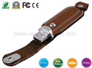Popular Promotion Gift 4gig 8gig Leather USB Driver Embossing Flash Memory pictures & photos