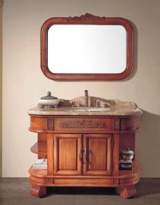 Solid Wood Vintage Style Bathroom Classical Bathroom Vanity (ADS-620) pictures & photos