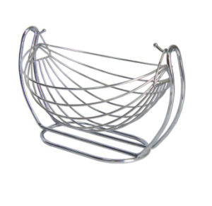 oem new design stainless steel wire fruit basket