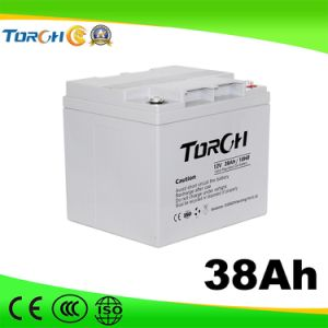 12V Deep Cycle Lead Acid 38ah Solar Battery Maintenance Free pictures & photos