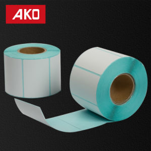 Zebra Printer Blue Glassine Liner Thermal Coated Layer Self Adhesive Sticker Paper Roll pictures & photos