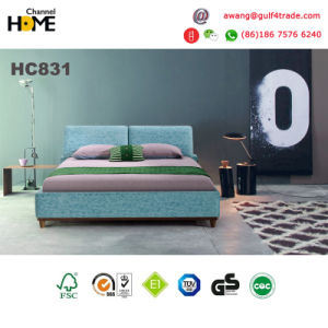 Fancy Design Blue Fabric Bedroom Bed (HC831) pictures & photos