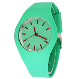 Lady′s OEM Geneva Style Digital Silicone Sports Wrist Watches (DC-099) pictures & photos