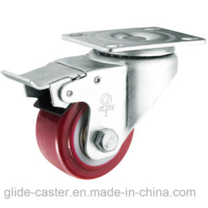 Medium Duty PU Caster (Red) (Flat Surface) (G2202) pictures & photos