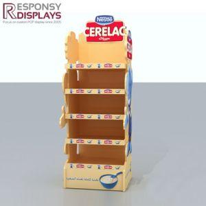 Floor Standing Wood Pet Food Display Shelf for Supermarket pictures & photos