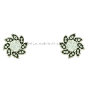 Wholesale Brass Jewelry Gemstone Ear Stud for Lady (KE3242) pictures & photos