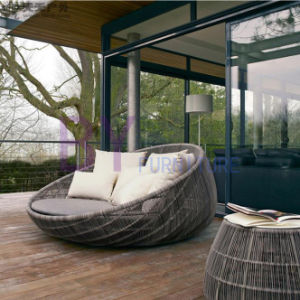European Style Nest-Shaped Outdoor Balcony Rattan Daybed pictures & photos