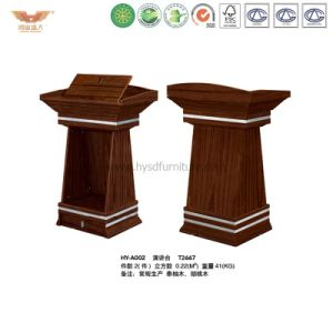 Wooden Basic Design Working Speech Table (HY-NNH-E02) pictures & photos
