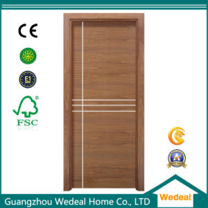 Modern Simple Flush MDF Interior PVC Laminated Wooden Door for Projects Worldwide pictures & photos