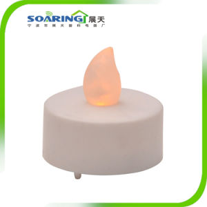 Battery Operated Amber LED Tealight Candles Flameless Heatless Flickering Wickless pictures & photos