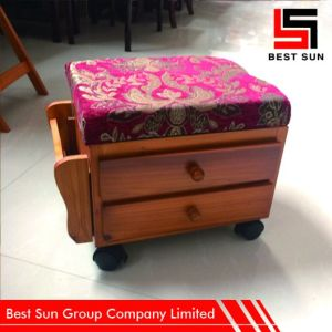 Foot Rest Stool with Shelf, Wholesale Ottoman Storage pictures & photos