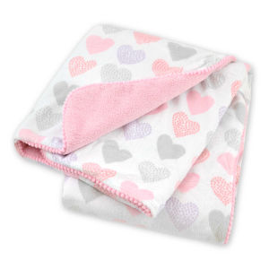 Printed Micro Mink Baby Blanket with Travel Pillow pictures & photos