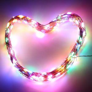 Outdoor Colorful 100 LED Solar Copper String Christmas Light Decoration Light for Garden Landscape Festival pictures & photos
