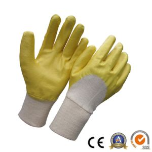 Blue Nitrile Gloves Safety Industrial Work Glove Factory pictures & photos