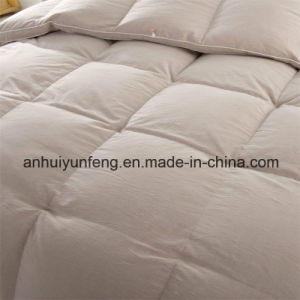 Yarn Dyed Pattern 40s Cotton Fabric White Duck Down Comforter pictures & photos