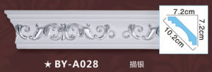 PU Carved Corner Moulding /Classic Polyurethane Cornicer/Corner Line pictures & photos