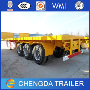 2 Alxe 3 Axle 20 Feet 40 Feet Flatbed Container Semi Trailer with Container Lock pictures & photos