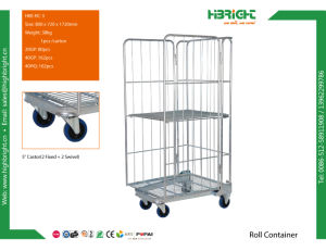 Foldable Three Sides Material Handling Steel Pallet Roll Container pictures & photos