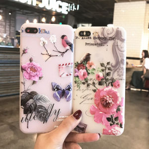 New Style Flower TPU Cover Phone Case for iPhone 6/7plus pictures & photos