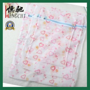 Strong Net Mesh Laundry Bag with Flower Printing pictures & photos